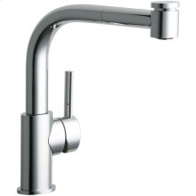 Elkay Mystic Single Hole Kitchen Faucet with Pull-out Spray and Lever Handle Chrome