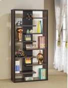 - Staggered eight shelf bookcase finished in cappuccino- Constructed with MDF, particle board, and engineered veneer- Also available in elm (#801349) Product Image