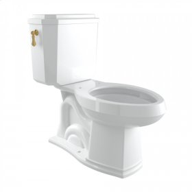 English Gold Perrin & Rowe Deco Elongated Close Coupled 1.28 GPF High Efficiency Water Closet/Toilet