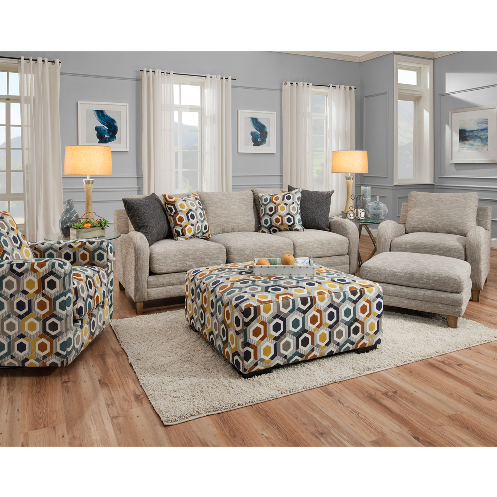 Franklin Furniture Matching Ottoman For The 87488 Chair