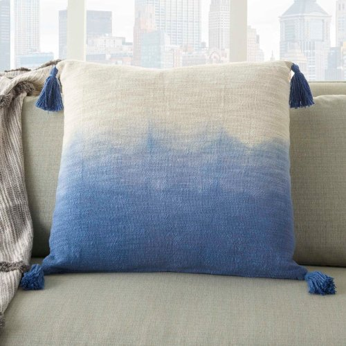 "Life Styles Aq130 Blue 22"" X 22"" Throw Pillow"