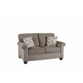 Love Seat - Pewter Chenille Finish
