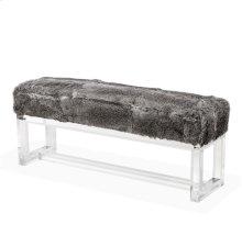 Avalon Bench - Rabbit Fur
