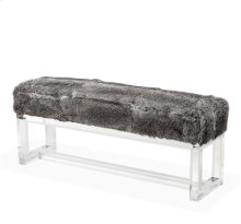 Avalon Bench - Rabbit Fur