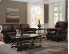 Stationary Leather Sofa Product Image