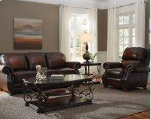 Stationary Leather Sofa