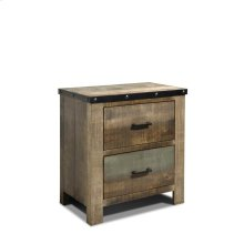 Sembene Antique, Multi-colored Nightstand