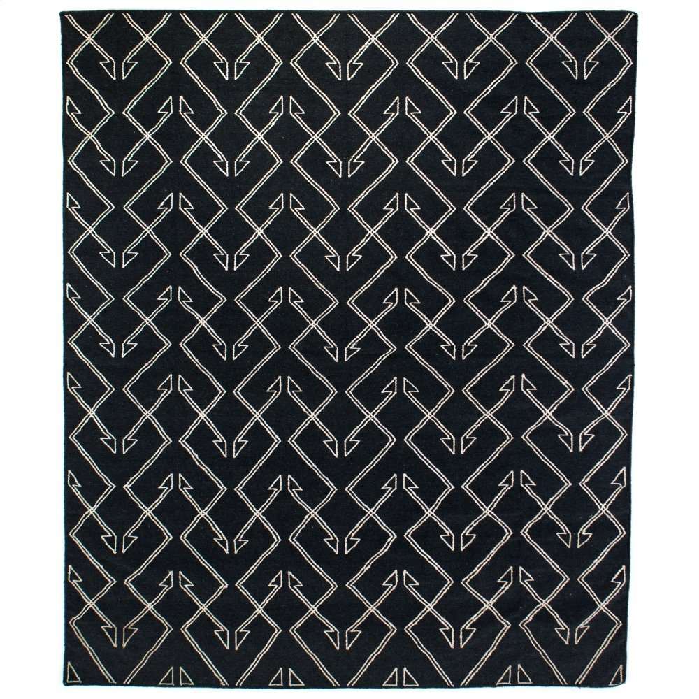 8'x10' Size Charcoal Patterned Rug