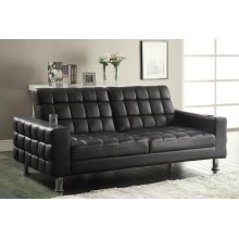 Brown Faux Leather Sofa Bed