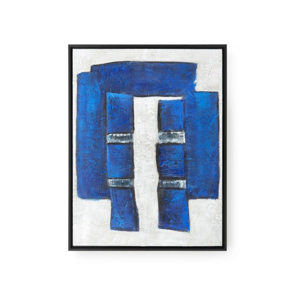 Blues Framed Canvas, Navy Blue