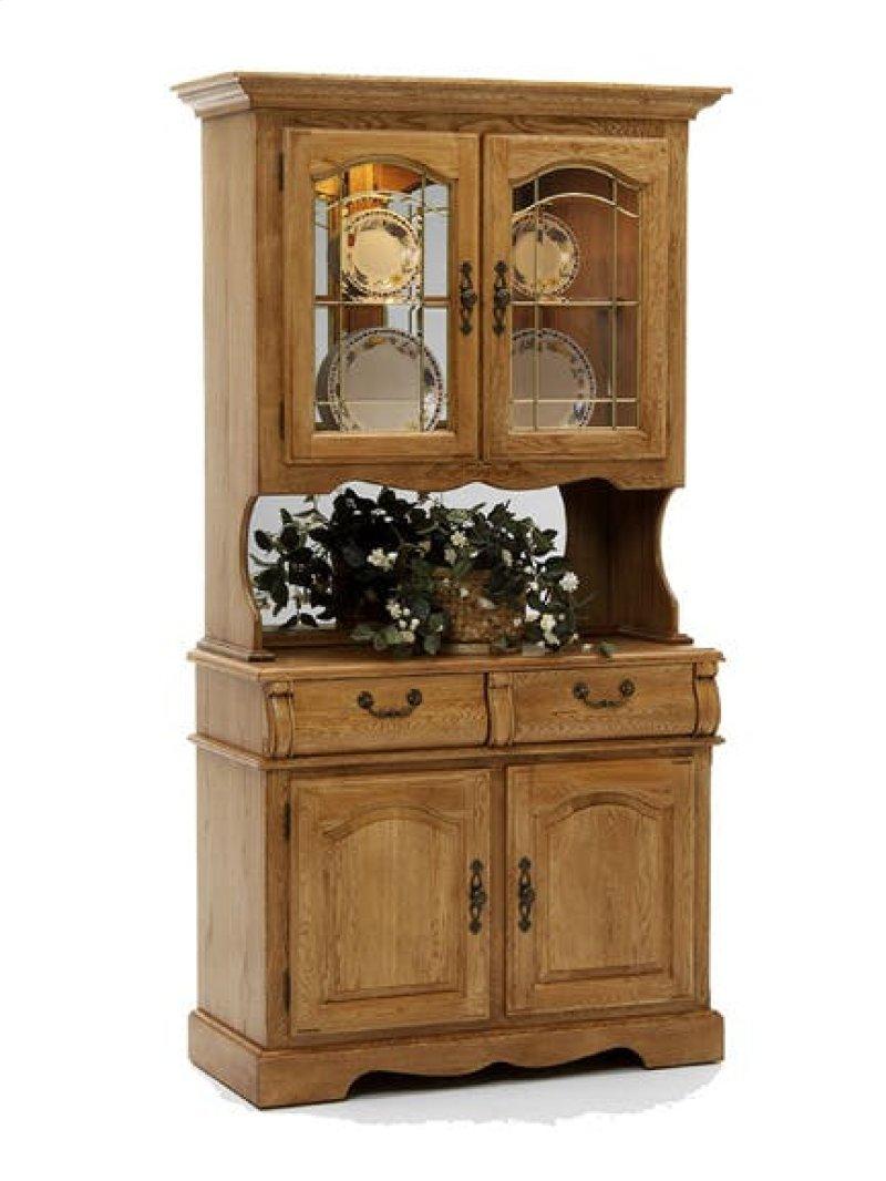 Clic Oak Small China Cabinet Hidden