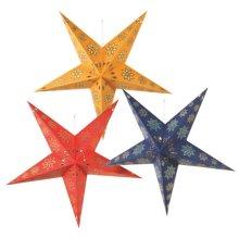 5 Point Paper Star (3 asstd).