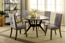 Abelone Dining Set - Gray (Includes Table & 4 Chairs)