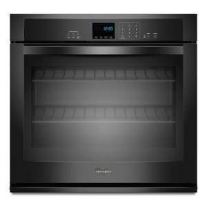 4.3 cu. ft. Single Wall Oven with SteamClean Option - BLACK