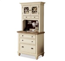 Coventry Personal Workstation Base Weathered Driftwood/Dover White finish
