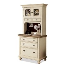 Coventry Personal Workstation Deck Weathered Driftwood/Dover White finish