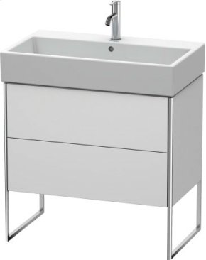 Vanity Unit Floorstanding, White Satin Matt Lacquer