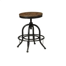 Swivel Stool - Pinnadel Grayish Brown Collection 24""