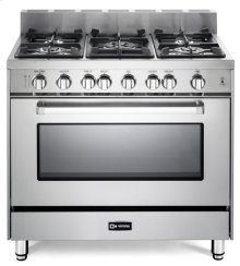 "36"" Gas Single Oven Range Stainless Steel 4"" B/G"