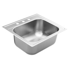 "1800 Series 25""x22"" stainless steel 18 gauge single bowl drop in sink"