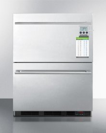 Built-in Commercial 2-drawer All-refrigerator In Stainless Steel, W/digital Thermostat, Temperature Alarm and Hospital Grade Cord