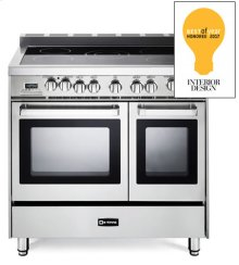 "Stainless Steel 36"" Electric Double Oven Range"
