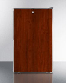"""Commercially Listed ADA Compliant 20"""" Wide Built-in Undercounter Refrigerator-freezer With A Lock, Custom Door for Slide-in Panels and Black Exterior"""