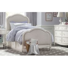 Harmony by Wendy Bellissimo Victoria Upholstered Panel Bed Twin