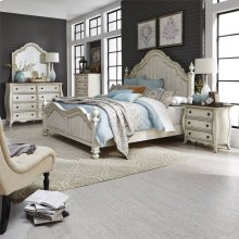 King Poster Bed, Dresser & Mirror, Chest, N/S