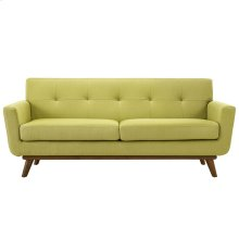 Engage Upholstered Fabric Loveseat in Wheatgrass