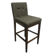 Transitional Charcoal and Cappuccino Bar-height Stool