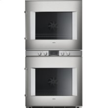 """400 double oven BX 480 610 Stainless steel-backed full glass door Width 30"""" (76 cm) Right-hinged Controls centered"""
