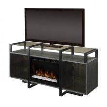 Milo Media Console Electric Fireplace