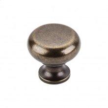 Flat Faced Knob 1 1/4 Inch - German Bronze