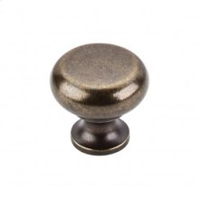 Flat Faced Knob 1 1/4 Inch - German Bronze