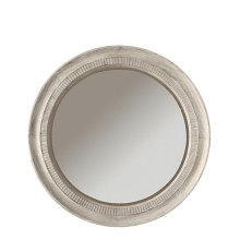 Aberdeen Round Mirror Weathered Worn White finish