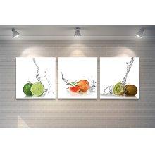 Fruits With Splash White background artwork