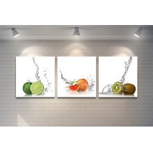Fruits With Splash White background artwork