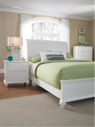 Hayden Place Sleigh Bed Queen with Storage