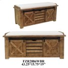 43.25X15.75X19 WOODEN BENCH, 1 PK/11.1' Product Image