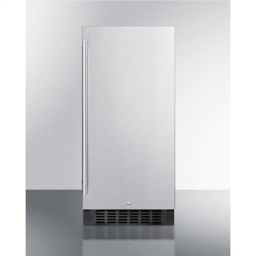 """15"""" Wide All-refrigerator for Built-in or Freestanding Use, With Stainless Steel Wrapped Exterior, Lock, and Digital Thermostat; Replaces Ff1538bcss"""