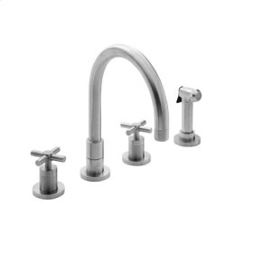White Kitchen Faucet with Side Spray