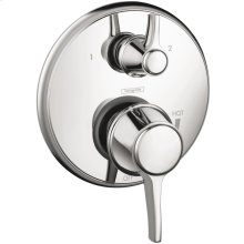 Chrome Pressure Balance Trim with Diverter, Round