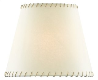 Natural Stitched Parchment Shade - 3.5 x 5 x 6