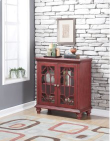Enzo 2 Door Chest ANTIQUE RED