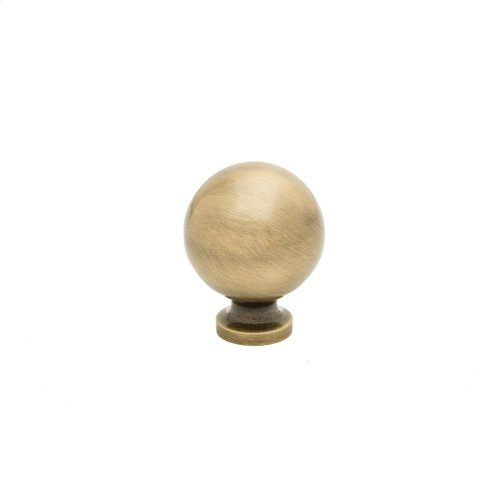 "1 1/4"" Knob - Antique Brass"