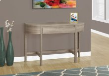 "ACCENT TABLE - 48""L / DARK TAUPE WITH A STORAGE DRAWER"