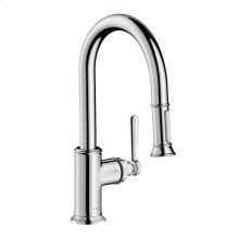 Chrome AXOR Montreux 2-Spray Prep Kitchen Faucet, Pull-Down, 1.75 GPM