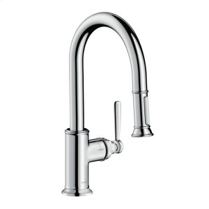 Chrome AXOR Montreux 2-Spray Prep Kitchen Faucet, Pull-Down, 1.75 GPM Product Image