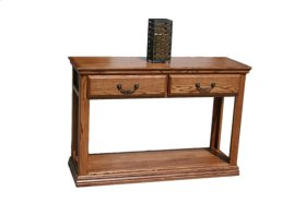 O-T247 Traditional Oak 2-Drawer Console Table